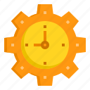 alarm, business, clock, gear, hour, time, wall