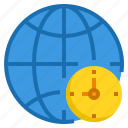 alarm, business, clock, hour, time, world icon