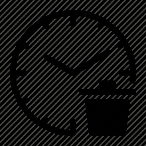Alarm, clock, delete, time, trash, watch icon - Download on Iconfinder