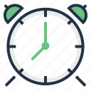 alarm, bell, clock, reminder, ringing, time, timer icon