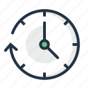 arrow, clock, clockwise, time, timer, watch icon