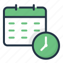 calendar, clock, date, event, reminder, time icon