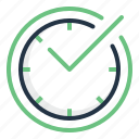 accept, check, clock, mark, save, time icon