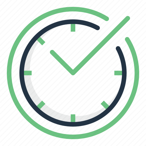 Accept, check, clock, mark, save, time icon - Download on Iconfinder