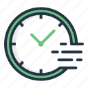 clock, delivery, quick, service, speed, time icon