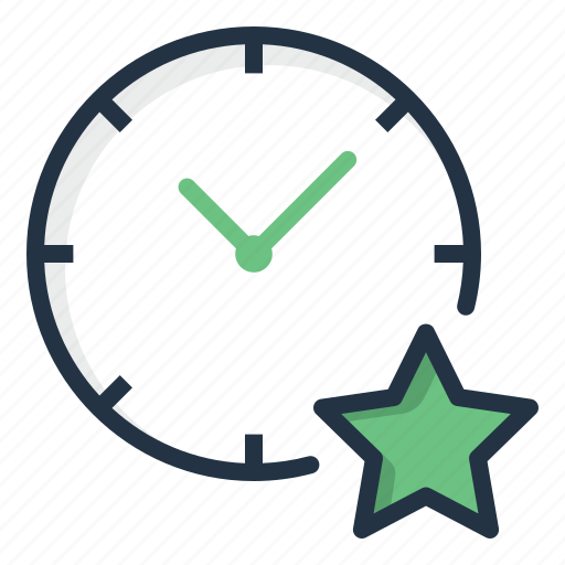 Clock, favorite, star, time, watch icon - Download on Iconfinder