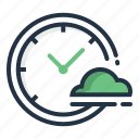 clock, cloud, day, forecast, time, weather icon