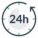 clock, customer, hours, service, support, time icon