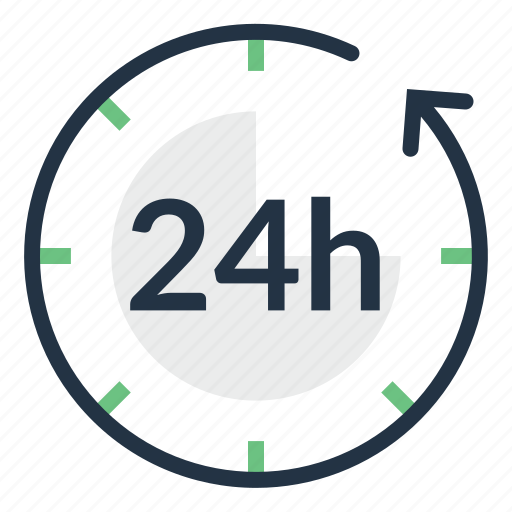 Clock, customer, hours, service, support, time icon - Download on Iconfinder