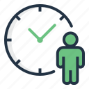 area, clock, people, person, time, wait icon