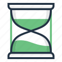 clock, deadline, hourglass, sand, time, timer icon