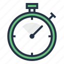 chronometer, countdown, measure, stopwatch, time, timer icon