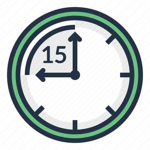 chronometer, clock, fifteen, minute, stopwatch, timer icon