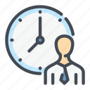 clock, hour, man, person, time, watch, workflow icon