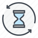 clock, glasshour, sandwatch, time, timer, update, watch icon