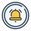 bell, notification, reminder, time icon