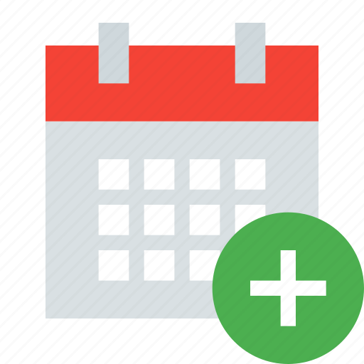 add, calendar, date, day, event, plus, schedule icon