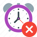 alarm, clock, delete, remove, time, timer, watch icon