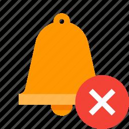 alert, bell, delete, remove, warning icon