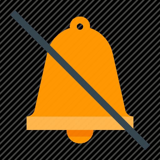 alarm, alert, bell, no, warning icon
