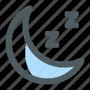 moon, night, nighttime, weather icon