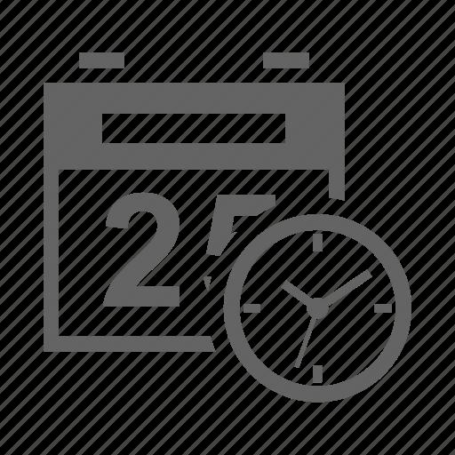 calendar, clock, organizer, reminder, schedule, time icon