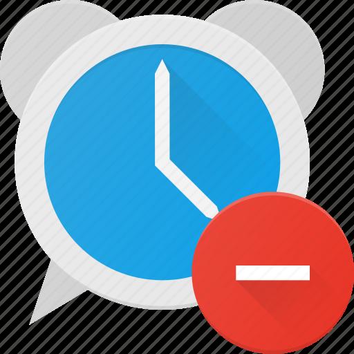 alarm, clock, disable, remove, time icon