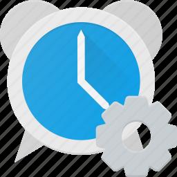 alarm, clock, settings, time icon