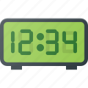 alarm, clock, digital, radio, time icon
