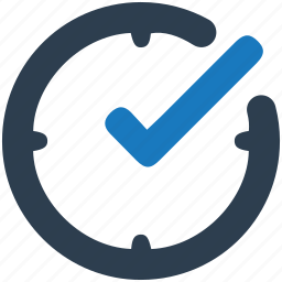 checkmark, clock, completed, deadline icon