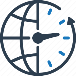 clock, earth, time, time zone, world icon