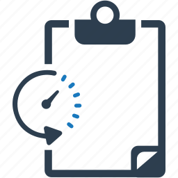 document, estimates, recoreds, timer icon