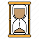 filled, hourglass, time, watch icon