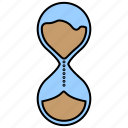 filled, hourglass, time, watch