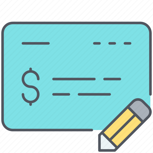 banking, business, cheque, finance, payment, receipt, salary icon