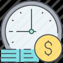 clock, money, cash, deadline, end, finish, time