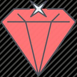 diamond, expensive, gem, gemstone, jewel, precious, ruby icon