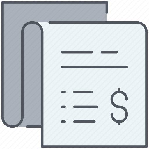 banking, business, check, finance, financial, receipt, report icon