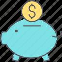 bank, piggy, banking, coins, deposit, finance, loan