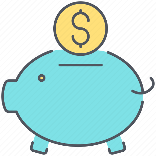 bank, banking, coins, deposit, finance, loan, piggy icon