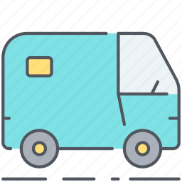 banking, business, secure, transfer, transport, van, vehicle icon