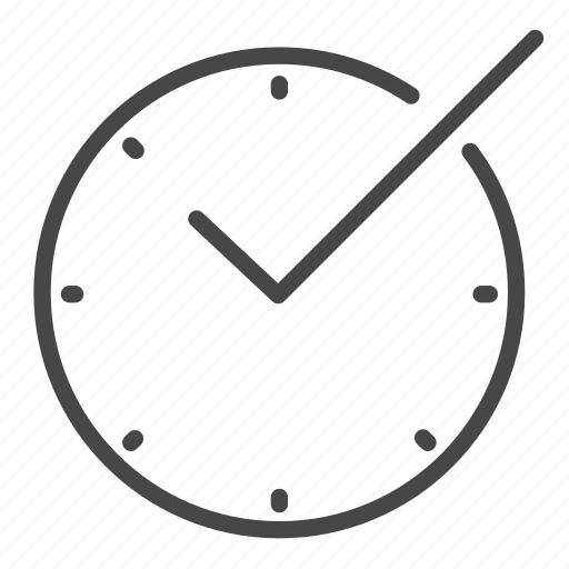 business, check, confirm, management, on time, time icon