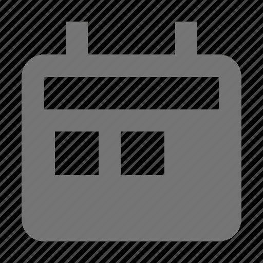 boxes, calendar, text icon