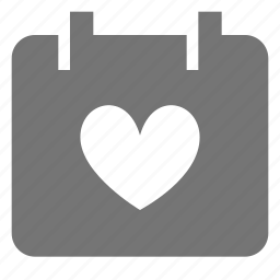 calendar, favorite, heart, like icon