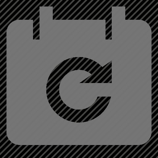 arrow, calendar, refresh, reload, sync icon
