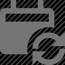 arrows, calendar, refresh, reload, sync icon