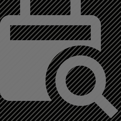 calendar, search, view icon