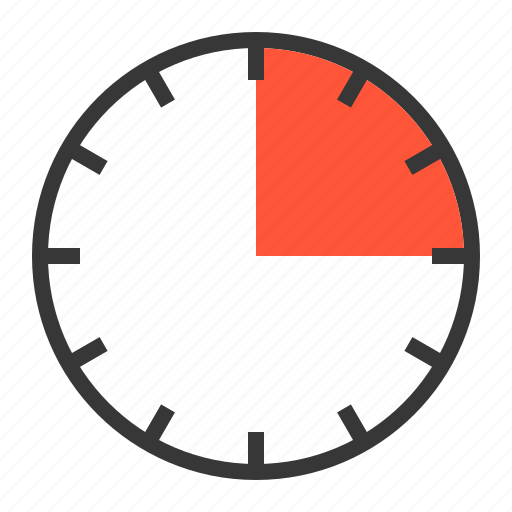 15 min  clock  fifteen  minute  quarter  timer icon