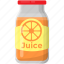 fresh juice, orange juice, orange squeezed jar, organic juice, tangerine juice icon
