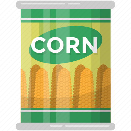 canned food, corn seed, healthy diet, preserved corns, sweet corns icon